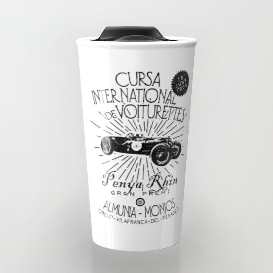 Buy CURSA INTERNATIONAL DE VOITURETTES Travel Mug by ongadesign. Worldwide shipping available at Society6.com. Just one of millions of high quality products available.