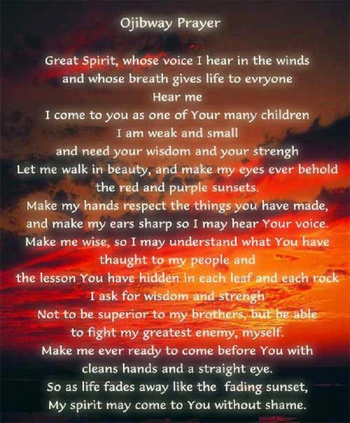 ojibway prayer
