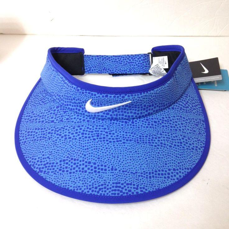 New$26 Womens NIKE GOLF WIDE BRIM VISOR Ladies Dry Fit Golf Sun Hat Swoosh Blue #Nike #Visor #Golf