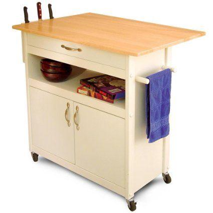 Amazon.com - Catskill Craftsmen Drop Leaf Utility Cart - Kitchen Storage Carts