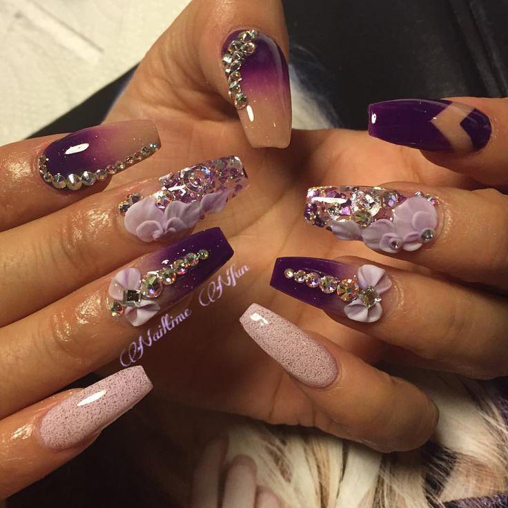 So pretty! Love this art work - coffin nails