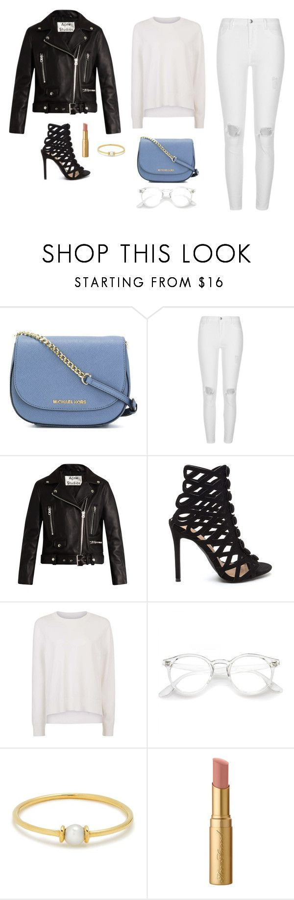 """""""Untitled #1533"""" by alex-gucka ❤ liked on Polyvore featuring MICHAEL Michael Kors, River Island, Acne Studios, Sweaty Betty, Anissa Kermiche and Too Faced Cosmetics"""