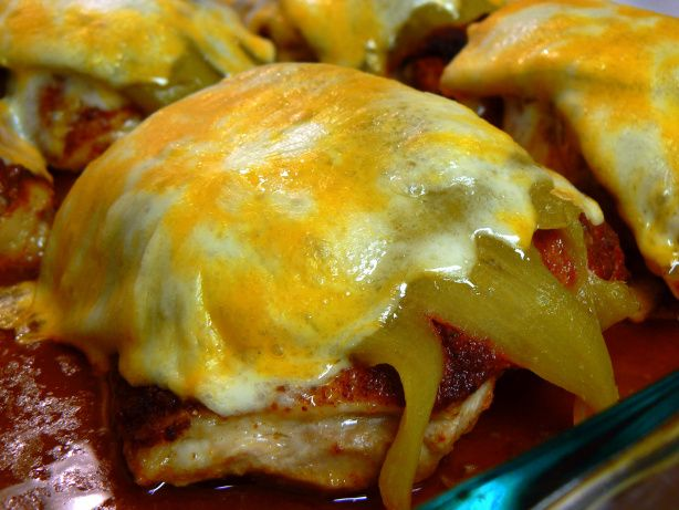 Smothered Green Chile Chicken - definitely would use fresh or frozen Hatch chiles instead of canned, though.