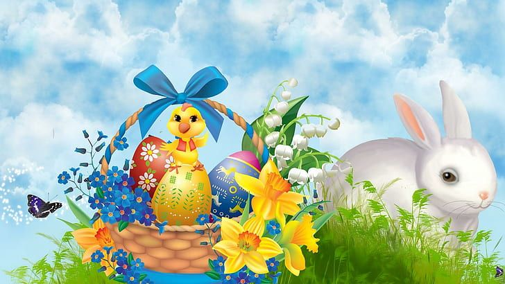 Easter Bunny Wallpapers For Desktop Easter Bunny Images Happy Easter Pictures Happy Easter Wallpaper