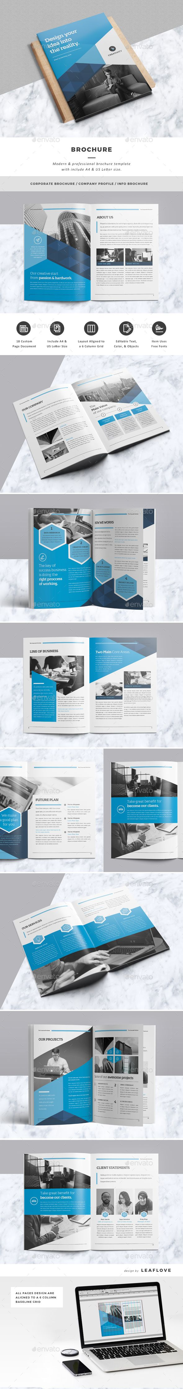 Corporate Brochure Design Template - Corporate Brochure Template InDesign INDD. Download here: https://graphicriver.net/item/brochure/17363666?ref=yinkira
