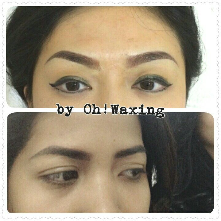 Eyebrow embroidery by Teresia Hilda @Oh!Waxing. Jakarta, Indonesia