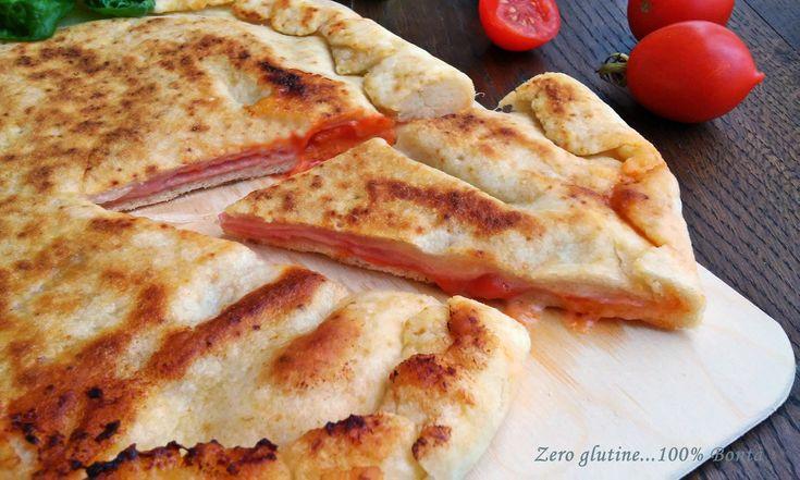 Focaccia+ripiena+cotta+in+padella+(ricetta+veloce)