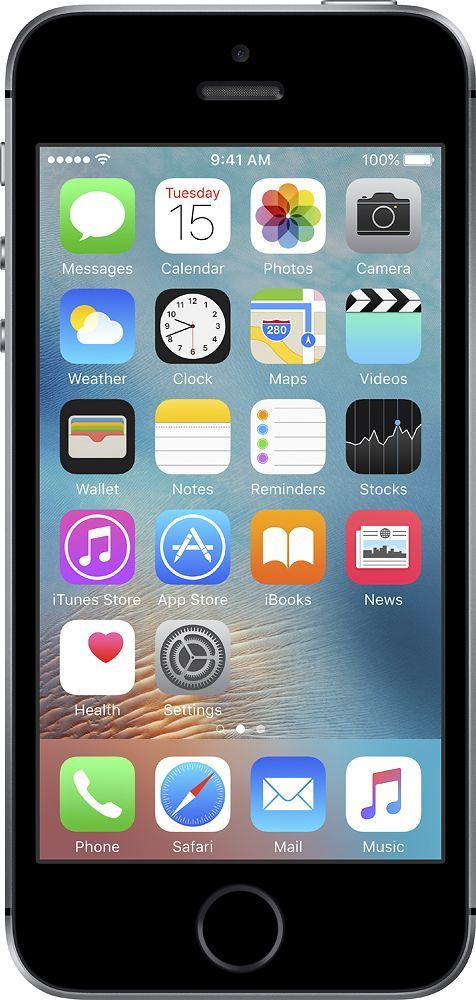 Apple - Geek Squad Certified Refurbished iPhone SE with 64GB Memory Cell Phone - Space gray (Sprint)