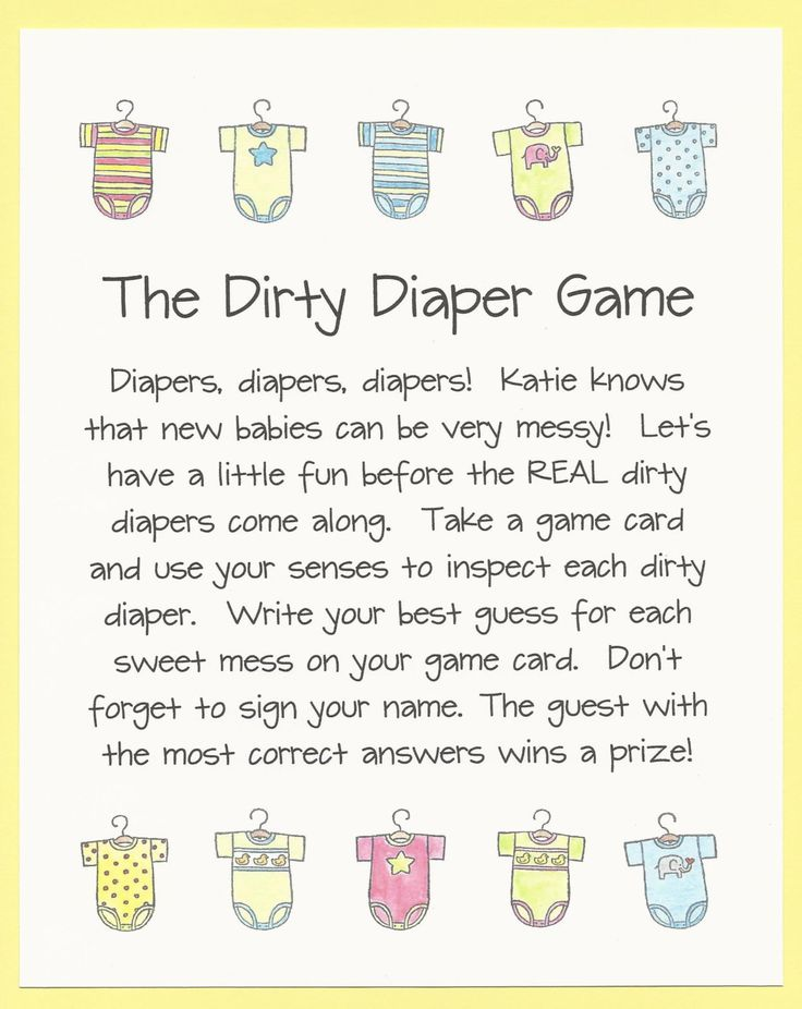 The Dirty Diaper Baby Shower Game   Chocolate Candy Shower Games, Stinky Diaper  Shower Games, Guess The Mess Shower Games, Easy Shower Games