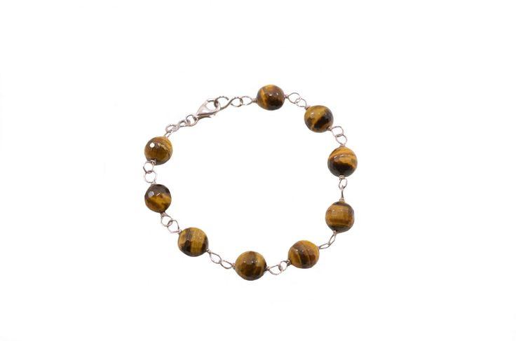 Βραχιόλι με μάτι τίγρης - Bracelet with tiger eye