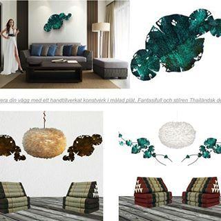 www.globalxdesign.com  #väggdekorationer #wall art #fjäderlampa #fjäderlampor #dunlampa #eoslampa #eos #thaikudde #triangelkudde