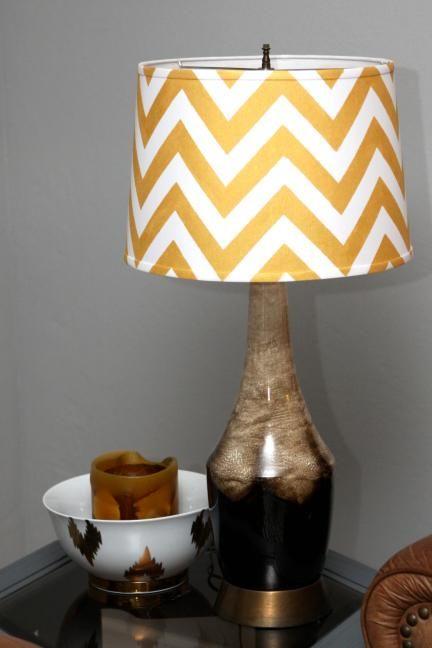 DIY | Chevron Lamp Shade