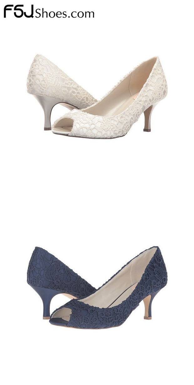 Women S Style Pumps And D Orsay Heels White And Navy Peep Toe