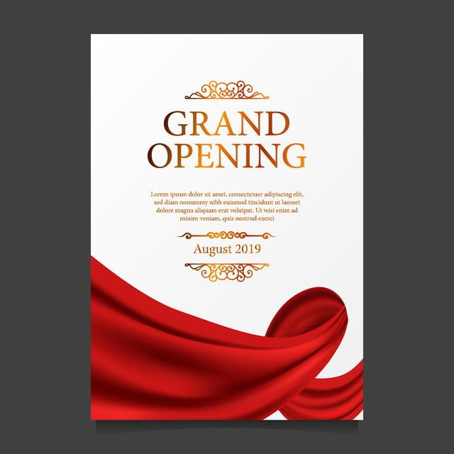 Grand Opening Ceremony Red Silk Poster Banner Grand Opening Shop Opening Invitation Card Shop Banner Design