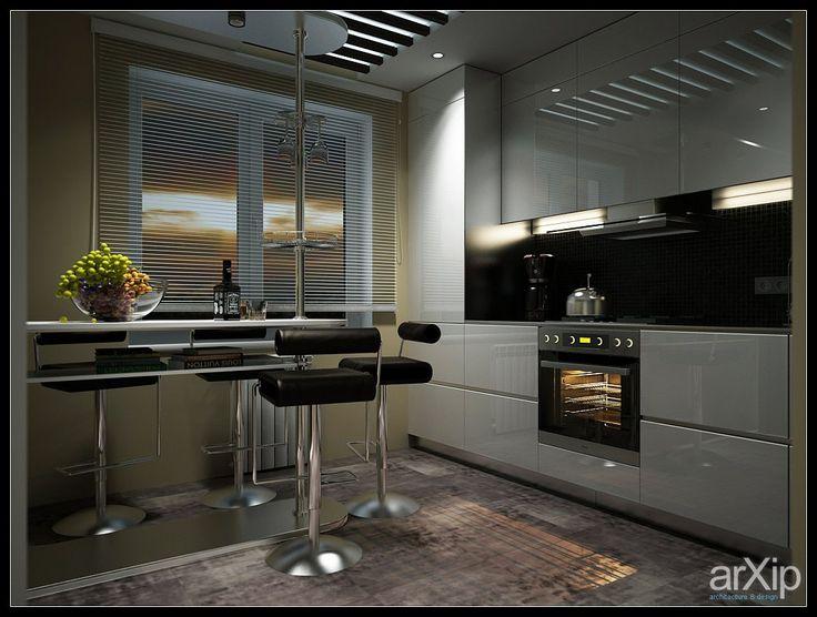 квартира студия интерьер, назначение - квартира, дом   тип - кухня   площадь - 20 - 30 м2   стиль - минимализм. Разместил PRimeART на портале arXip.com