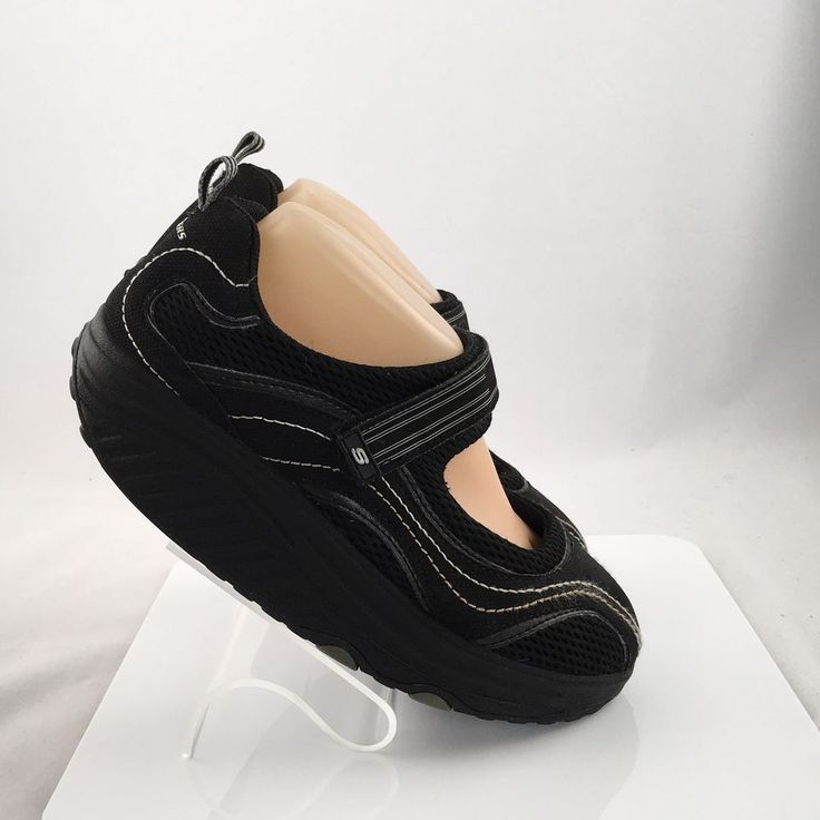 Skechers Shape Ups Mary Janes Womens Size 8.5 Black Athletic walking work shoes #Skechers #MaryJanes