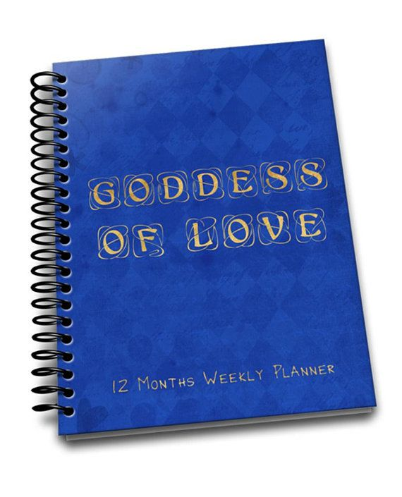 Goddess of Love | Perpetual Weekly Planner | 2 pages a week | Passwords | Contacts | Notes | Annual Goals