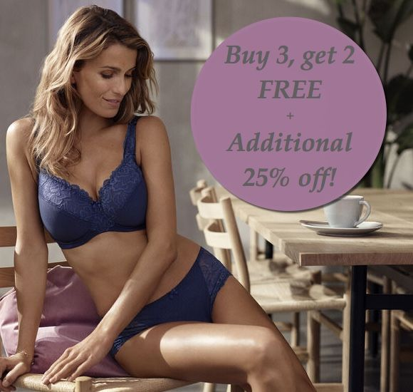 This summer sale just got HOTTER! Buy 3, Get 2 Free + Additional 25% off select merchandise! Since you asked...YES, the offers can be combined! See in store for details. #changelingerie #lingerie #fashon #shopping #canada #blue #bra