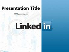 Linkedin Free PPT Template with Linkedin Logo