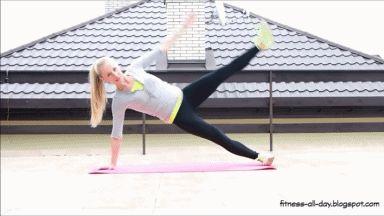 Listopadowe nowości w moim treningu - ćwiczenia na mięśnie brzucha (gify)