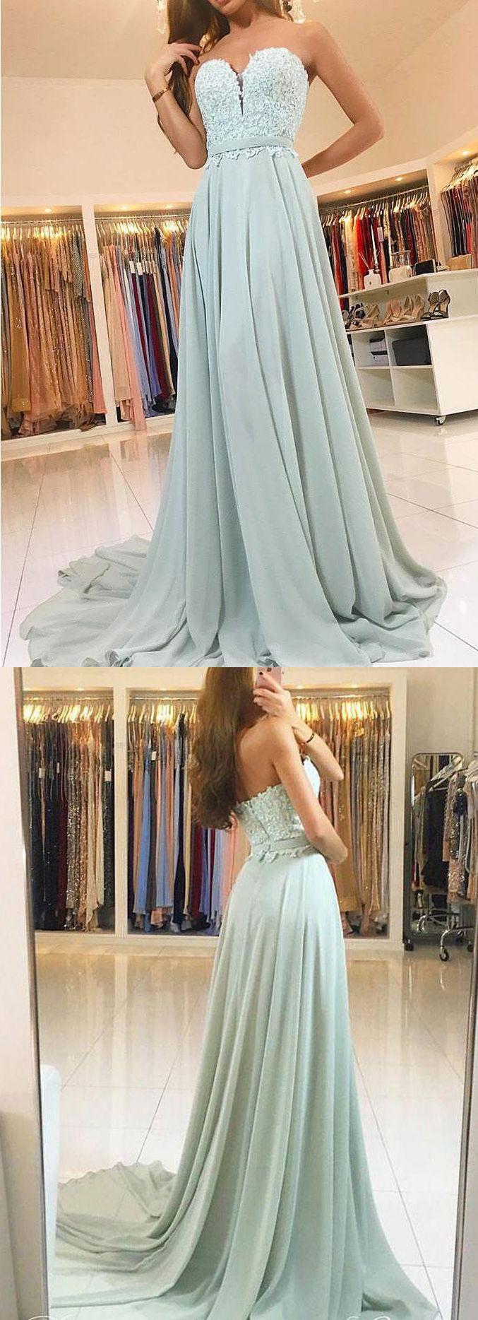 Gorgeous Strapless Lace Chiffon Long Prom Dress Aqua Formal Evening Gown Elegant Prom Gown Aqua Wedding Party Dress #dress #gown #prom #prom2018 #homecoming #formaldress #formalgown #weddingparty #promdress #promgown #evening #eveningdress #eveninggown #fashion #aqua
