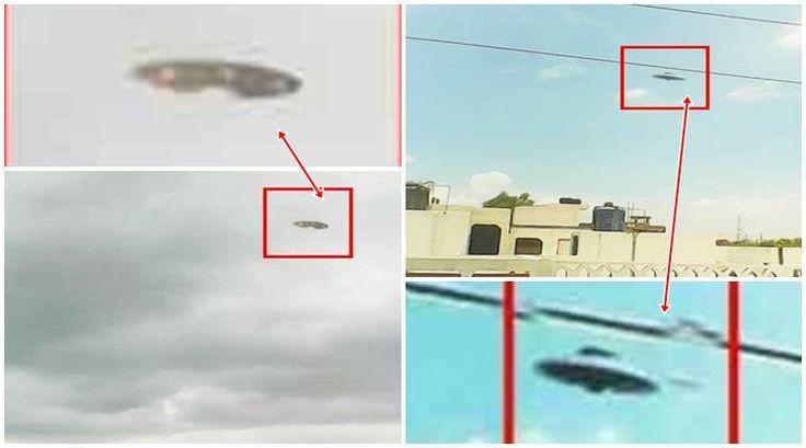 OVNI em Kanpur, possuia formato típico de disco voador.