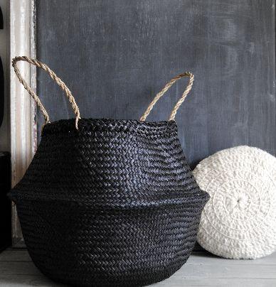 "Panier Boule "" Black "" http://www.bazarandco-store.com/shop/4577600242/panier-boule-black/8285773"