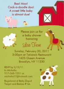 Hosting a baby shower? Considering a farm theme? I love these cute country farm animal baby shower invitations. @_rms #farm #babyshowers