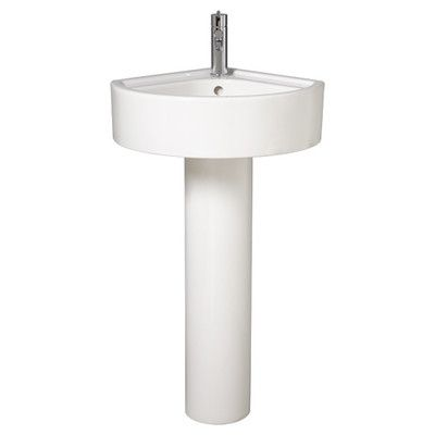 small pedestal sink size with towel bar corner canada