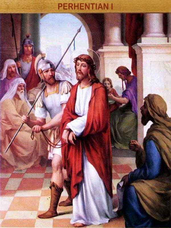 YESUS DIHUKUM MATI : Oleh desakan para tua-tua, ahli Taurat dan seluruh rakyat, Pilatus menjatuhkan hukuman mati, ia menyerahkan Yesus kepada rakyat Yahudi untuk disalibkan (Yoh 19:16).