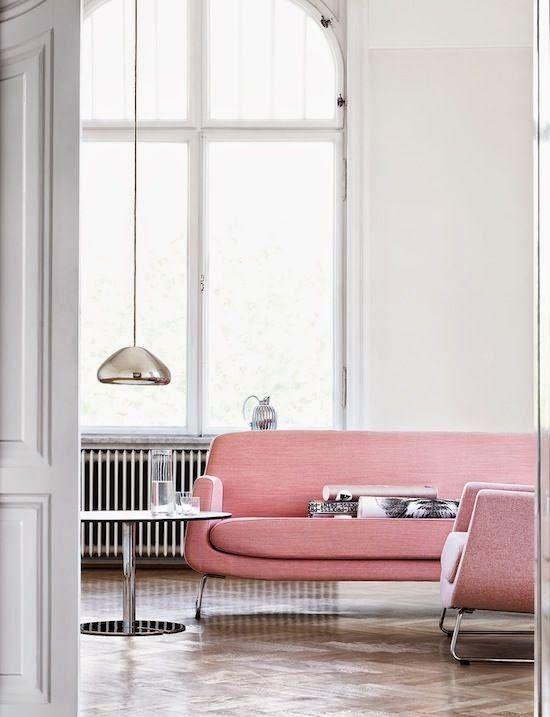 Salon i pokój dzienny, sofa, kanapa, kolorowa, w kolorze, scandinavian style, styl skandynawski, living room