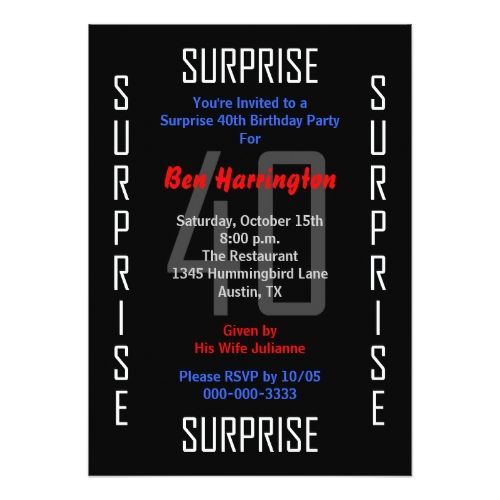 134 best Surprise Birthday Invitations images – Surprise 30th Birthday Invites