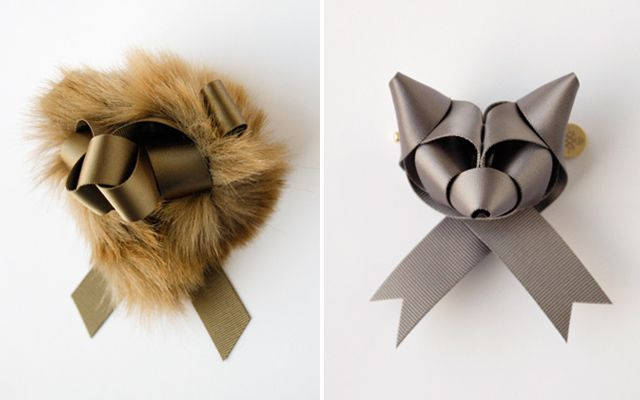 Japanese artist and illustrator Baku Maeda started Ribbonesia in 2008, after discovering a unique way to fold ribbons into wearable animal sculptures.