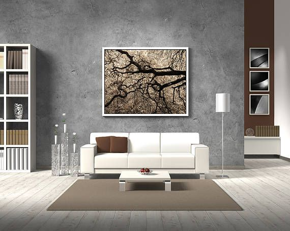 Monochromatic Photography Large Wall Art Sepia Photography Living Room Wall Decor Forest Print Map Wall Decor World Map Wall Art Map Wall Art