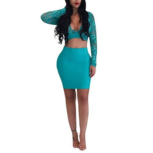 New Joseph Costume Women 2 Piece Outfits Sexy See Through Long Sleeve Floral Lace Crop Top Bodycon Skirt Set online. Perfect on the Blansdi Dresses from top store. Sku xvhe34708upox65928