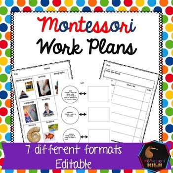 Work plans or journals for Montessori elementary classrooms. Designed for students to plan their day in a way that works for them. Seven different formats designed to cater for children who are preliterate to capable readers. Different designs also cater for different learning styles tooCompletely editable!