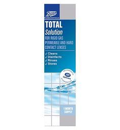 #Boots Pharmaceuticals Boots Total Solution (1 months supply) - 250 ml #28 Advantage card points. Developed with Boots Opticians Boots Pharmaceuticals Total Solution for rigid gas permeable and hard contact lenses. Cleans, disinfects, rinses and stores contact lenses.See details below, always read the label FREE Delivery on orders over 45 GBP. (Barcode EAN=5045092436523)