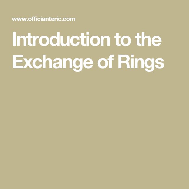 Introduction To The Exchange Of Rings