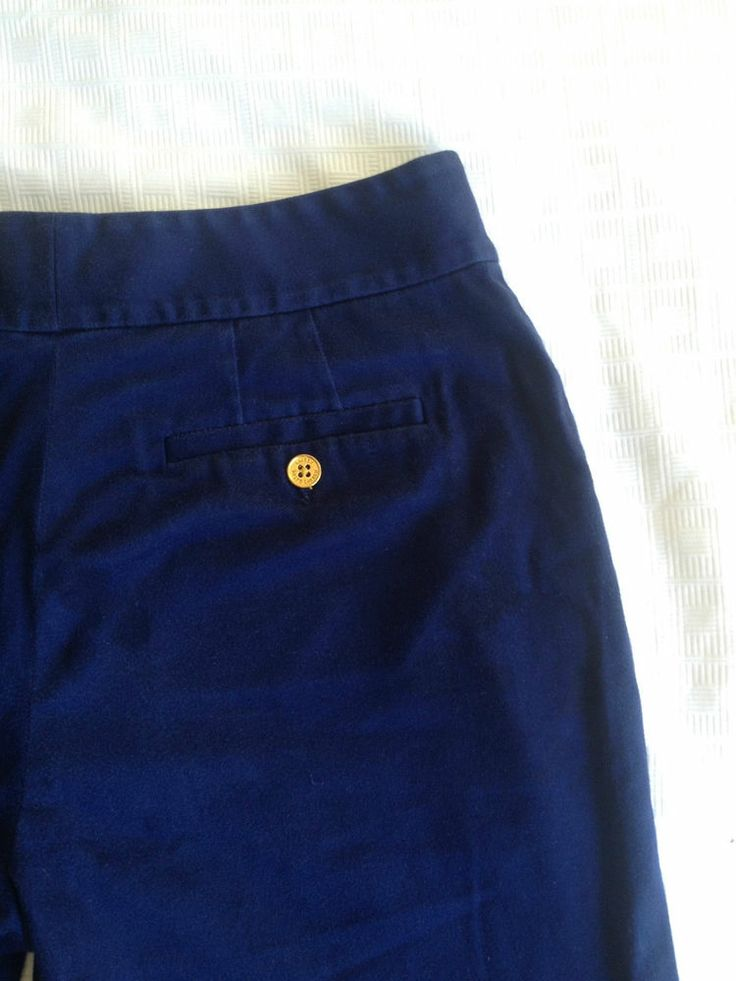 Ladies Ralph Lauren Designer Cotton Navy Blue Shorts - Size 2 - Now Selling! Click through to go to eBay auction.