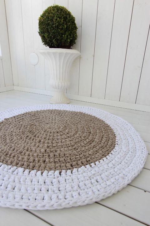 Virkattu matto Maison halk. 80cm
