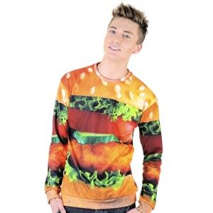 Bluza Oversize Hipster z nadrukiem HAMBURGER unisex