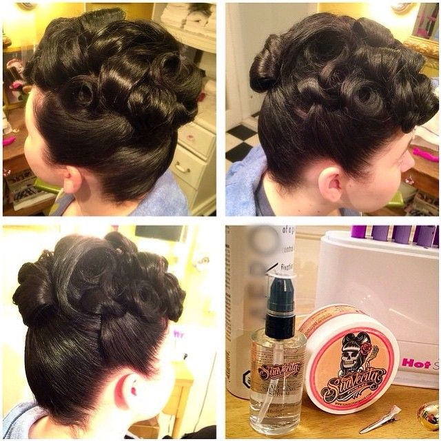 Super cute #poodlehair done by @bobbypinzparlour with #suavecita #pomade and hair serum #classic #vintagehair