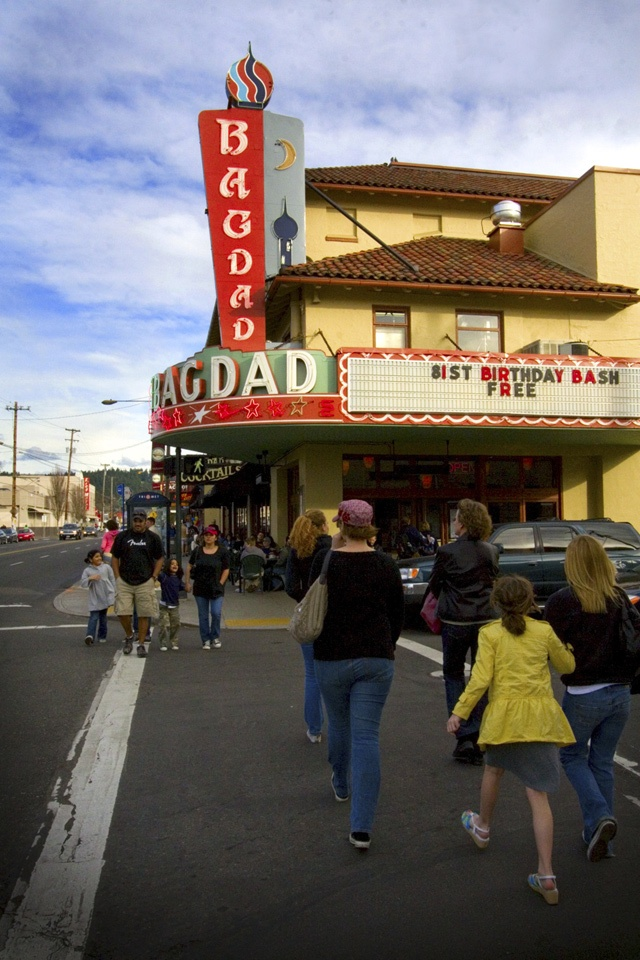 Portland, OR - Bagdad Theater - Great place to watch a movie & have dinner.