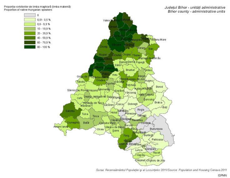 Magyar anyanyelvűek (Bihar megye 2011)