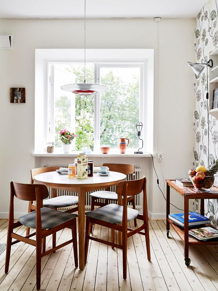 Dining room wallpaper home decor wood design for Kitchen dining room wallpaper
