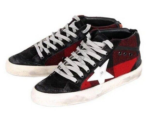 Golden Goose Deluxe Brand Mid Star - Red Black