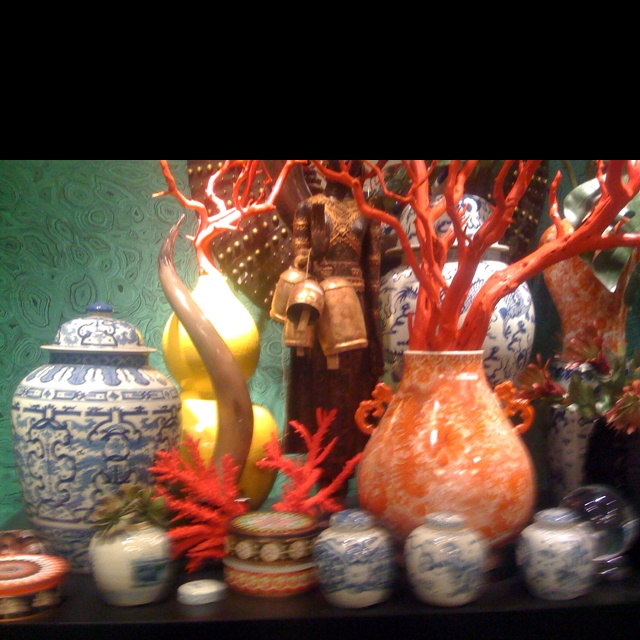 Chinoiserie display at the High Point furniture market.: Furniture Marketing, High Points, Points Furniture