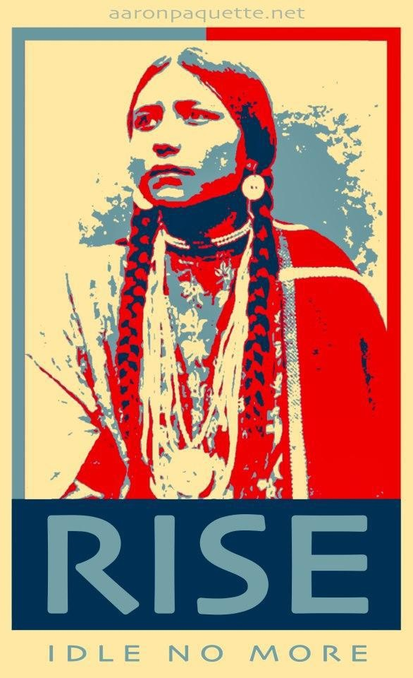 Rise idle no more | Anonymous ART of Revolution. For more on Idle No More go to:  http://idlenomore.ca/