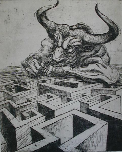 Marcel Chirnoaga - The Minotaur, one of my favourite Greek myths.