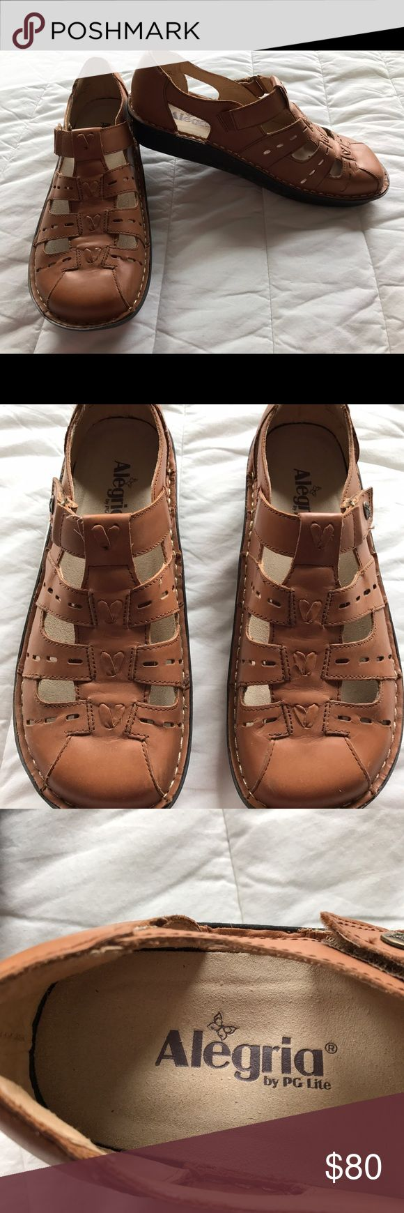 Alegria sandals Brown leather Alegria sandal shoe new to wide for my skinny feet European size 40 alegria Shoes Sandals